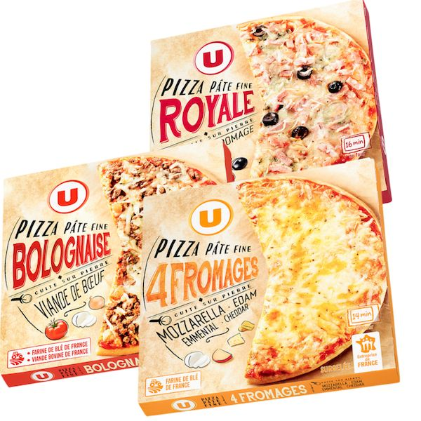Pizza royale/ 4 fromages ou bolo U